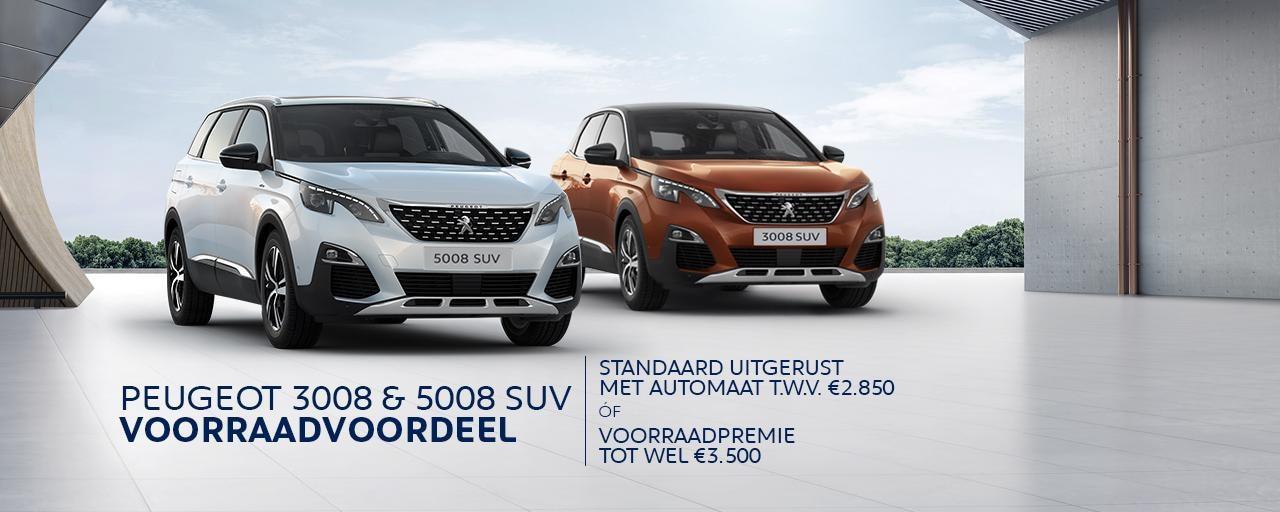 Nú bij Peugeot: Peugeot 3008 & 5008 SUV Voorraadvoordeel