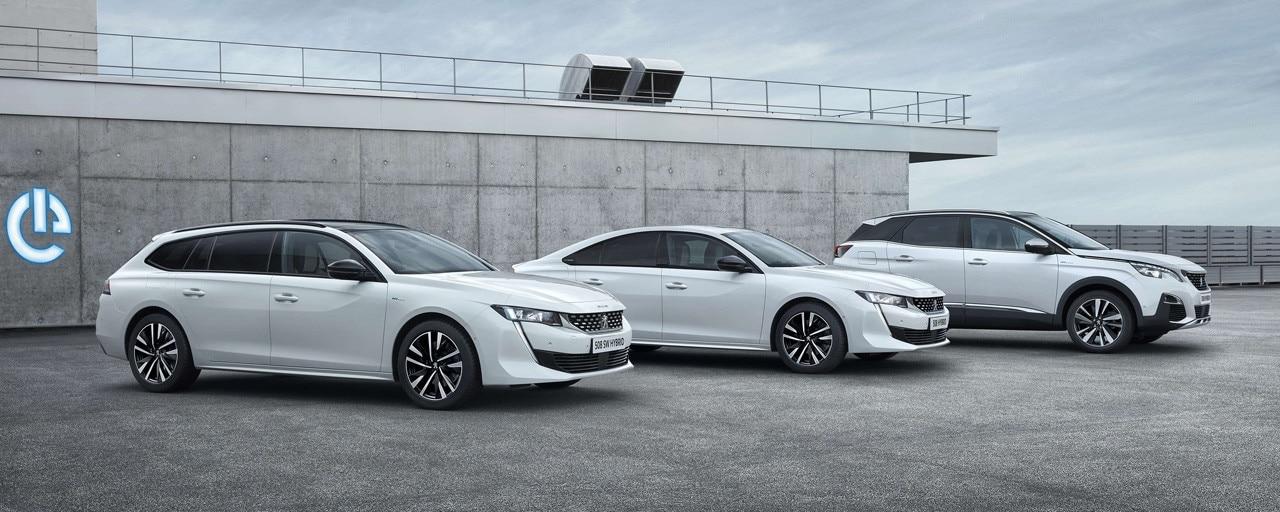 De plug-in hybridemodellen van Peugeot