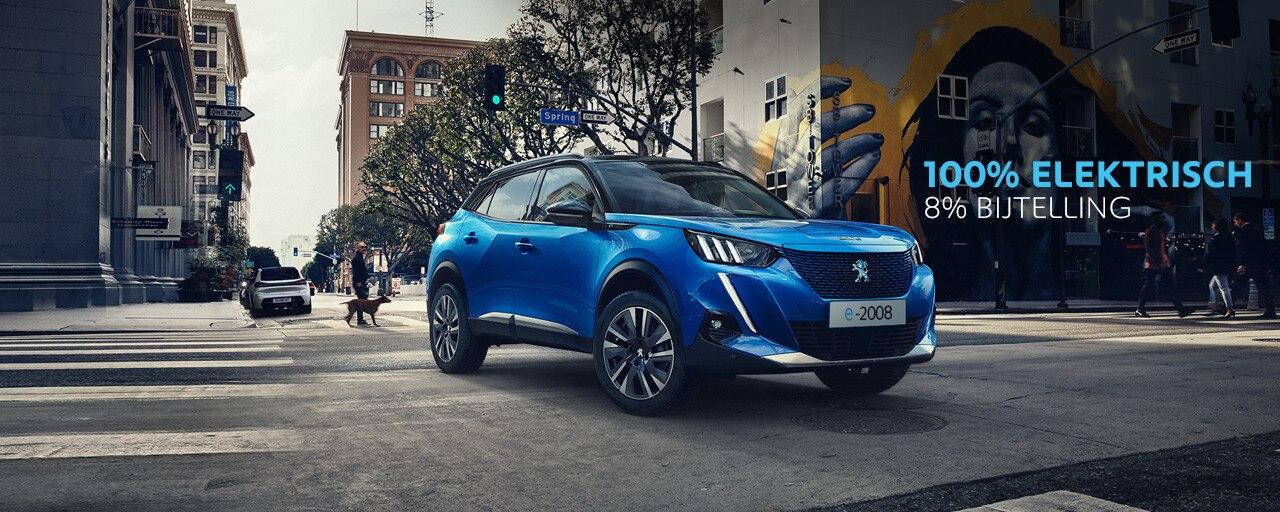 Nieuwe Peugeot e-2008 SUV - 100% Elektrisch - 8% bijtelling