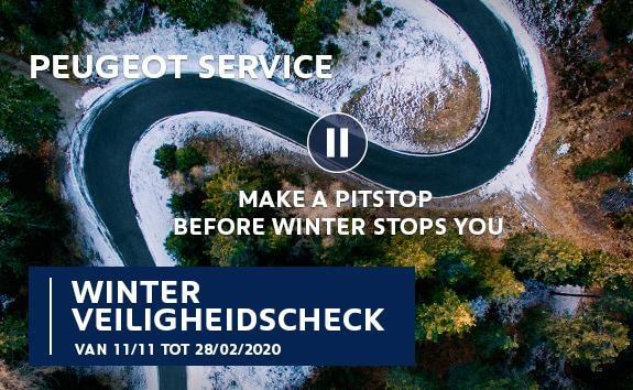 Geef uw Peugeot een Winter Veiligheidscheck