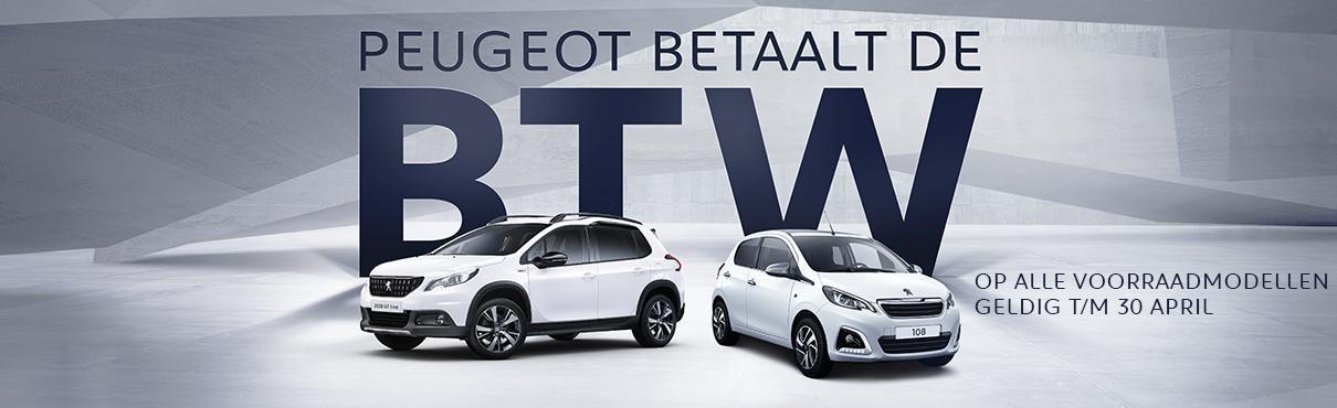 Peugeot betaalt de BTW