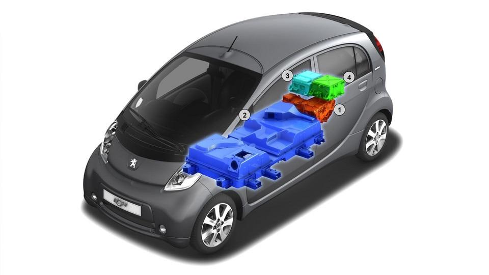 Peugeot iOn - accu