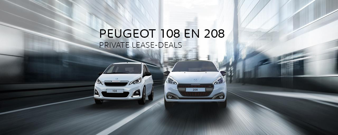 Peugeot 108 en 208 - Private Lease Deals