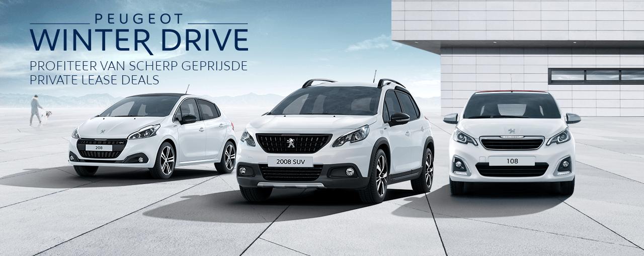 Peugeot Winter Drive - Profiteer van scherp geprijsde Private Lease Deals