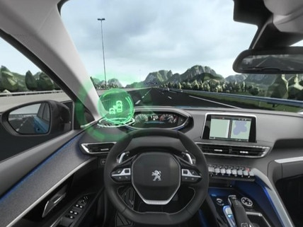 Peugeot  - Virtual Reality - Active blind spot monitoring