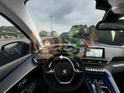 Peugeot  - Virtual Reality - Active lane departure warning
