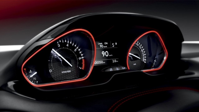 Peugeot 208 GTi - head-up instrumentenpaneel