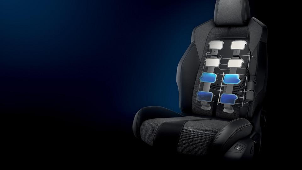 Nieuwe PEUGEOT 5008 SUV: Stoelen met multipoint-massagefunctie