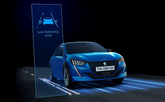 Nieuwe Peugeot 208 - Active Lane Departure Warning System