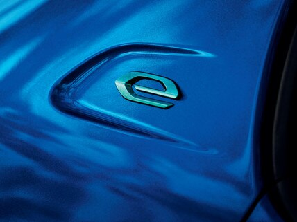 Nieuwe Peugeot e-208 - Embleem elektrische auto