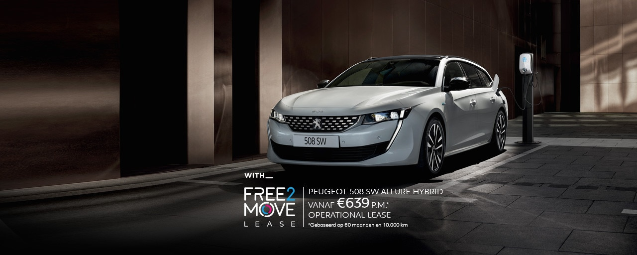 Nieuwe Peugeot 508 SW HYBRID - With Free2Move Lease