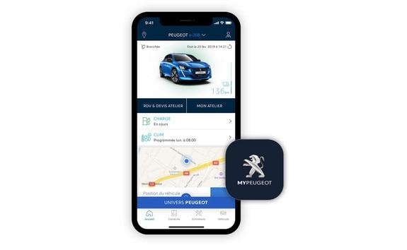 Nieuwe Peugeot e-208 - MyPeugeot App