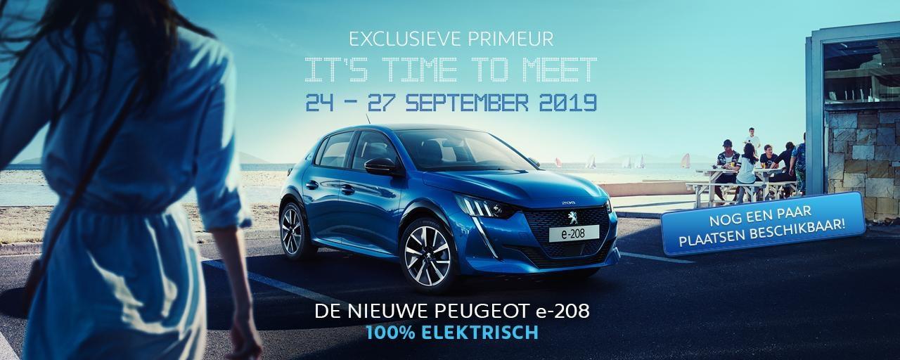 De nieuwe Peugeot e-208 - It's time to meet