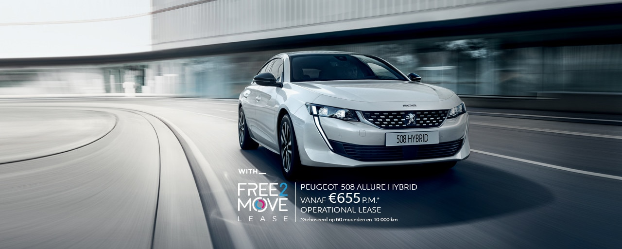 Nieuwe Peugeot 508 HYBRID - With Free2Move Lease