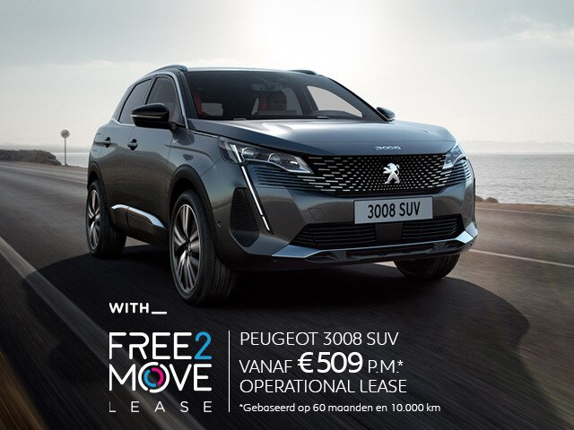 Nieuwe Peugeot 3008 SUV - With Free2Move Lease