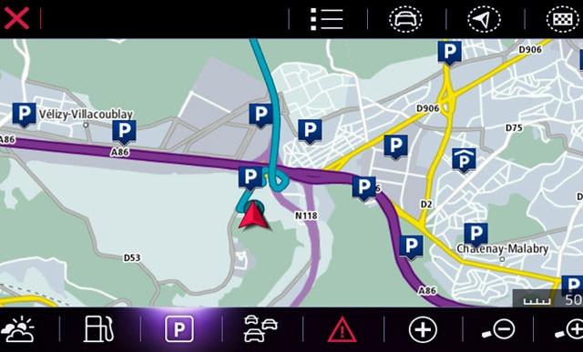 Peugeot-Connect-Nav beschikbare-parkeerplaatsen