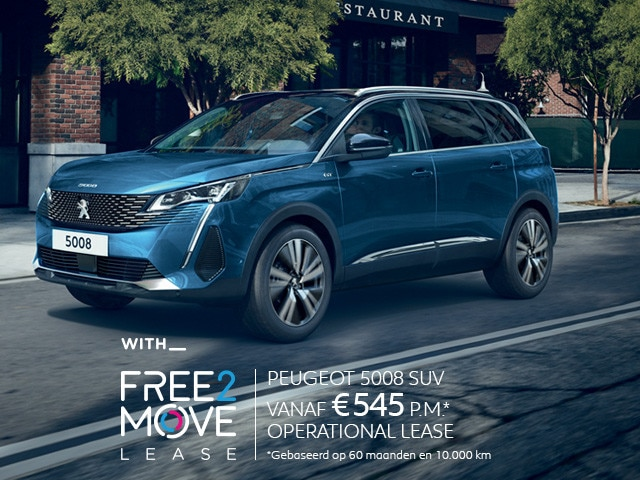 Nieuwe Peugeot 5008 SUV - With Free2Move Lease