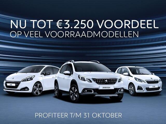 Voorraadmodellen van Peugeot. Nu met extra voorraadvoordeel