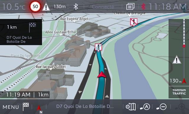 Peugeot Connect Nav gevarenzones