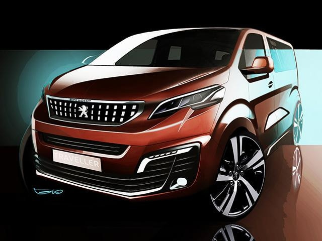 Peugeot Traveller i-Lab - krachtige voorzijde