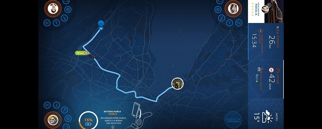 Peugeot Traveller i-Lab - online navigatiesysteem