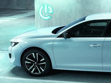 Nieuwe Peugeot 508 HYBRID, opladen van de tractiebatterij, verklikkerlampje klep laadaansluiting