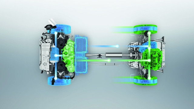 Peugeot 3008 SUV HYBRID4: lithium-ion tractiebatterij