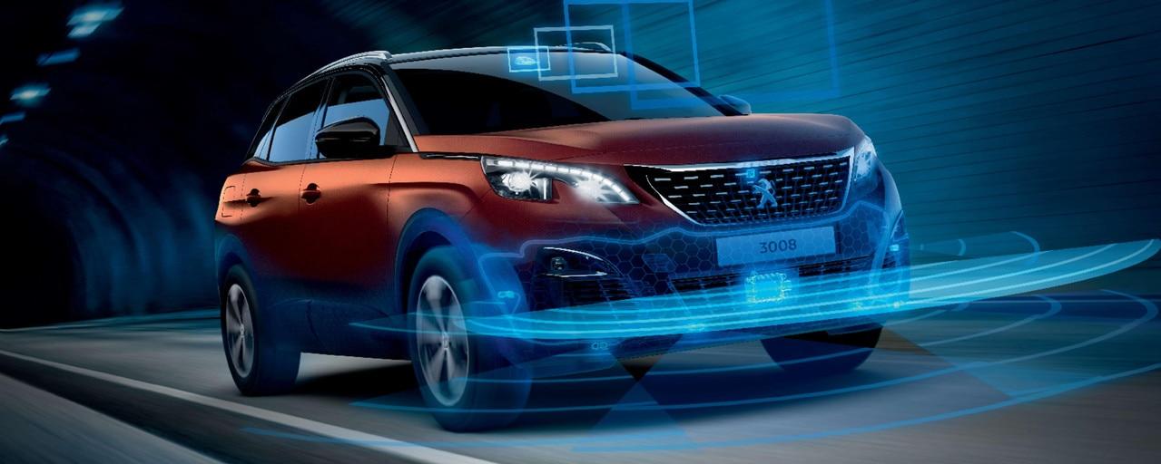 Peugeot 3008 SUV HYBRID4: veiligheid en rijhulpsystemen