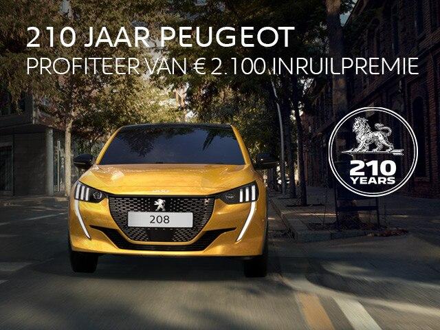 210 JAAR PEUGEOT - Profiteer van €2.100 inruilpremie