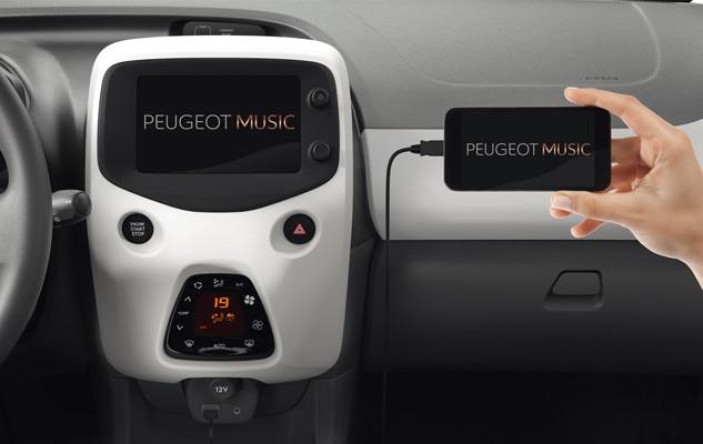 Peugeot 108 - mirror screen