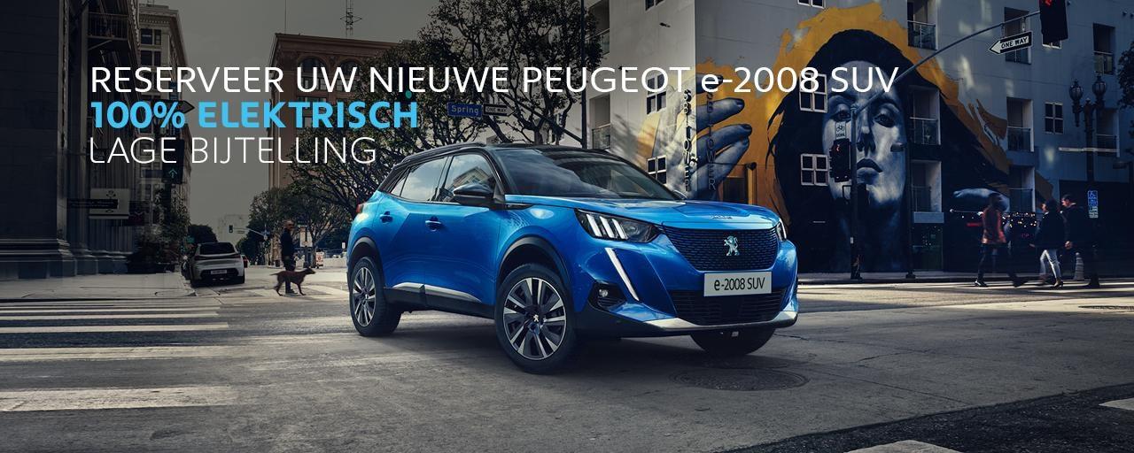 Reserveer uw nieuwe Peugeot e-2008 SUV