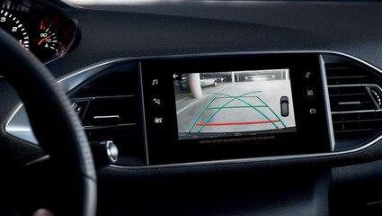 Peugeot 308 - achteruitrijcamera  - monitor