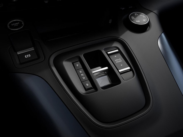 Nieuwe PEUGEOT e-Rifter – Selectiehendel elektrische uitvoering