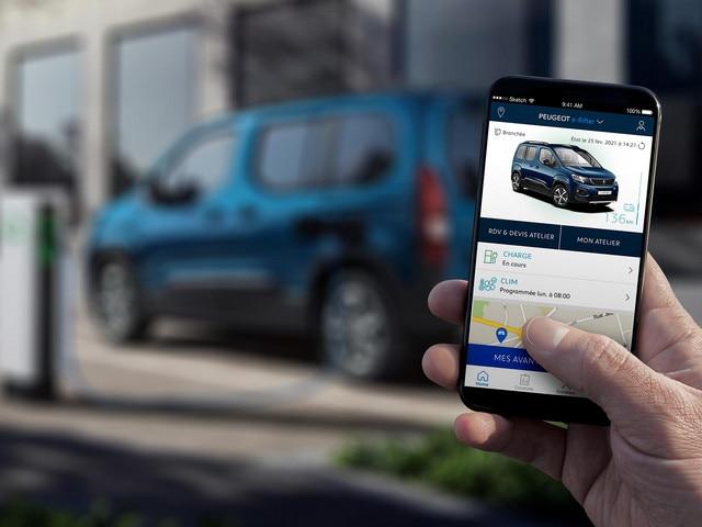 Nieuwe PEUGEOT e-Rifter – MyPeugeot App