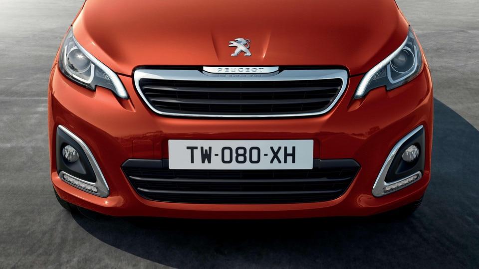 Peugeot 108 – Recht van voren