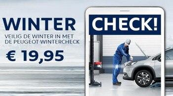 Veilig de winter in met de Peugeot Wintercheck