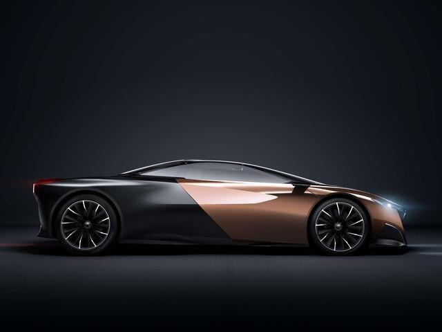 Peugeot ONYX - exterieur design zijaanzicht