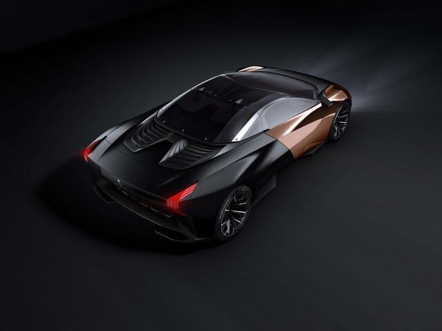 Peugeot ONYX - exterieur design bovenaanzicht