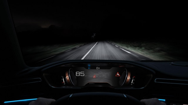 Nieuwe Peugeot 508 - Night Vision-systeem