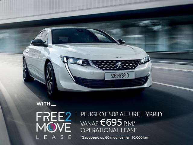 Nieuwe Peugeot 508 Allure HYbrid - met Free2Move Lease