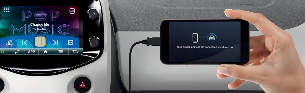 mirror screen verbind uw smartphone met uw auto. Black Bedroom Furniture Sets. Home Design Ideas