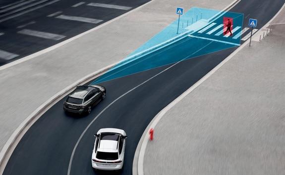 Nieuwe Peugeot 508 SW, Active Safety Brake (automatisch noodremsysteem) met Distance Alert (waarschuwing dreigende aanrijding)
