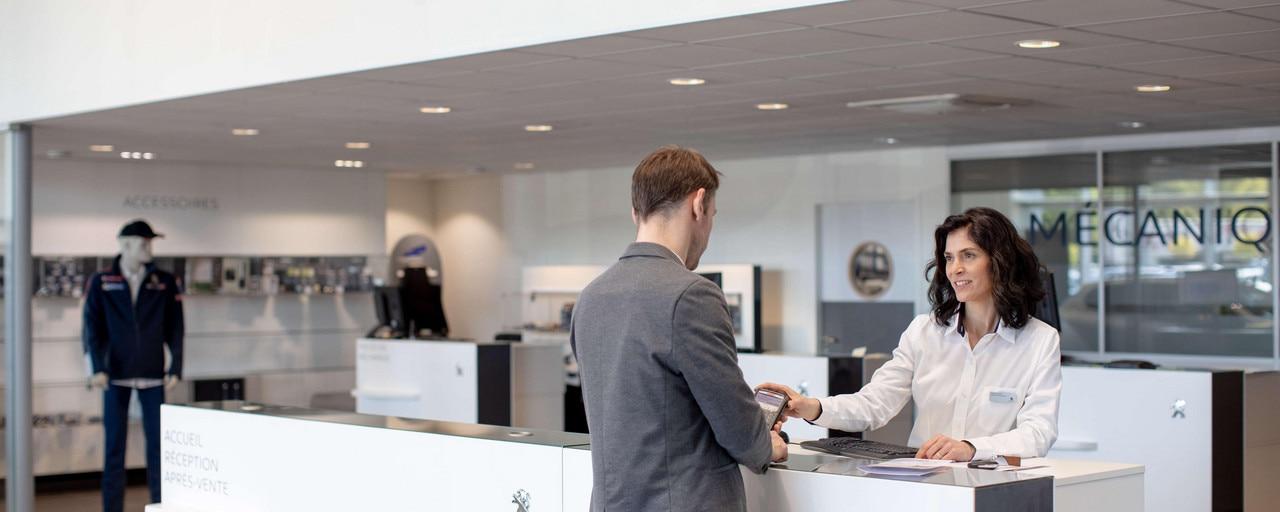 Peugeot en Technologie - Client receptie