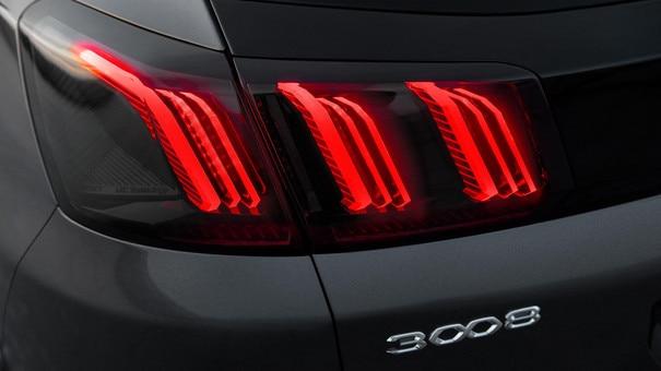Nieuwe Peugeot 3008 SUV – Nieuwe achterlichten met klauwafdruk