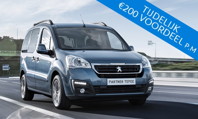 Electric Private Lease Week - Peugeot Partner Tepee Electric