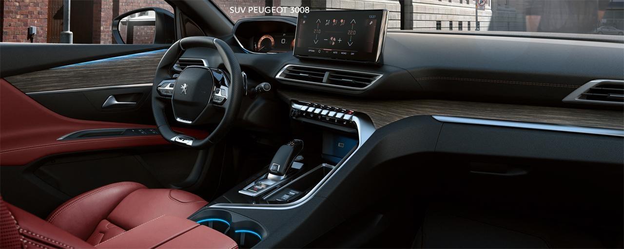 Nieuwe Peugeot 3008 SUV –  Aangenaam interieur in rood leder