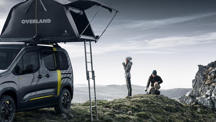 PEUGEOT RIFTER 4X4 CONCEPT – Tent en ladder