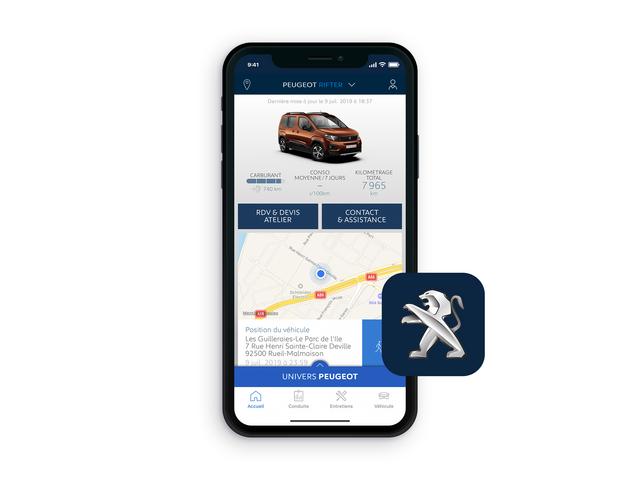 Peugeot Rifter – MyPeugeot® App