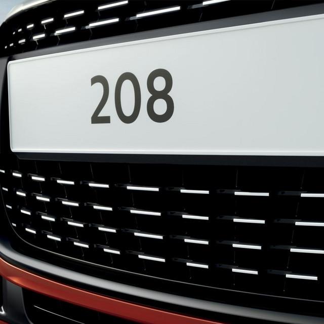 De compacte Peugeot 208 5-deurs - nummerplaat