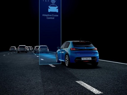 Nieuwe Peugeot 208 - Regeling voor snelheid en veiligheidsafstand
